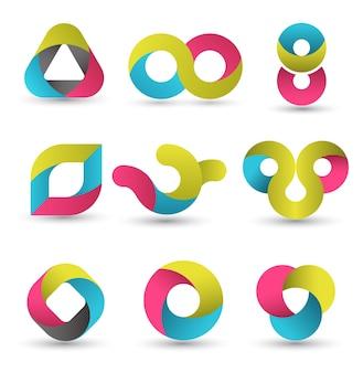Set di forme moderne.