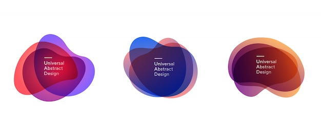 Set di forme sovrapposte trasparenti astratte