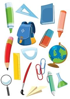 Set di forniture scolastiche
