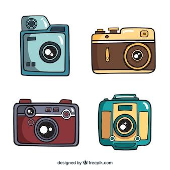 Set di fotocamere disegnate a mano