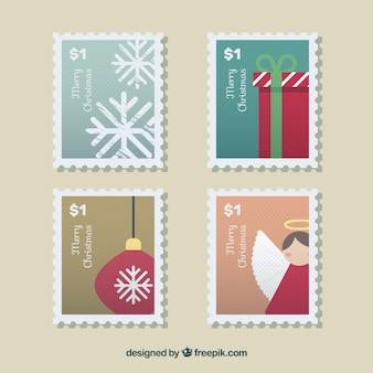 Set di francobolli di natale