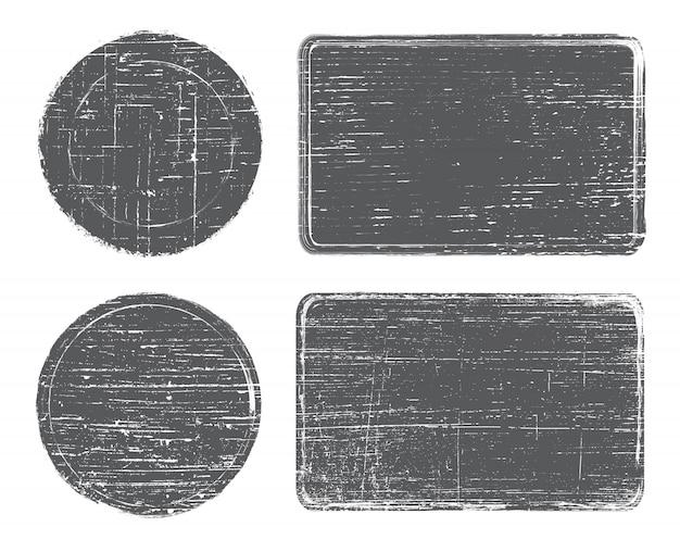 Set di francobolli grunge