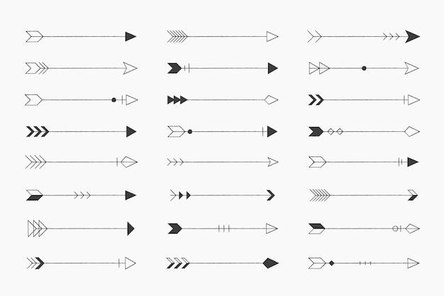 Set di frecce d'epoca