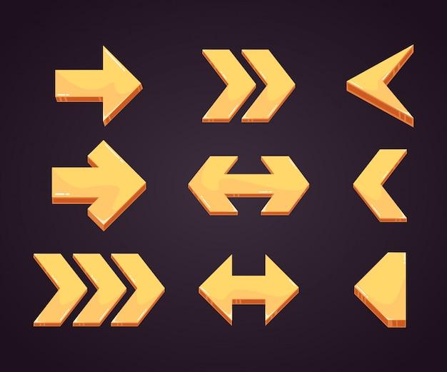 Set di frecce per segnare in stile realistico
