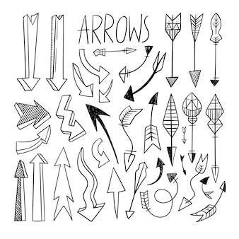 Set di freccia disegnata a mano