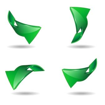Set di freccia, illustrazione vettoriale