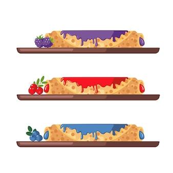 Set di frittelle dolci.