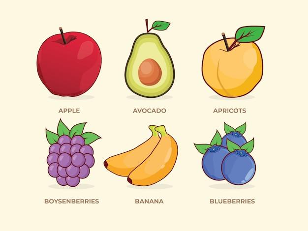 Set di frutta
