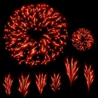 Set di fuochi d'artificio.