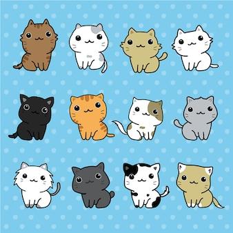 Set di gatti carini