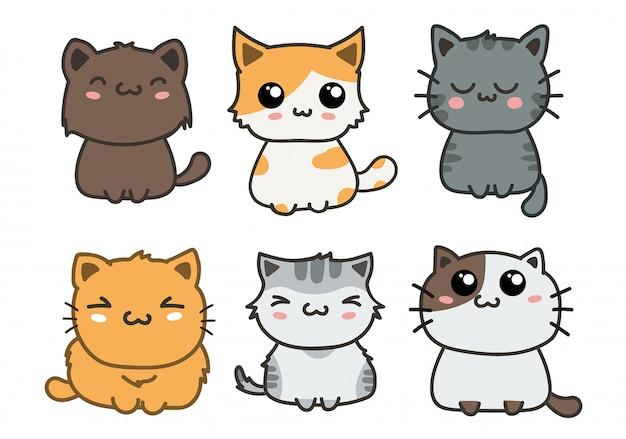 Set di gatti carino