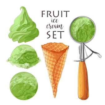 Set di gelato di vettore