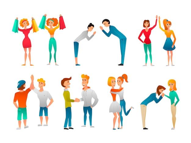 Set di gesti di saluto