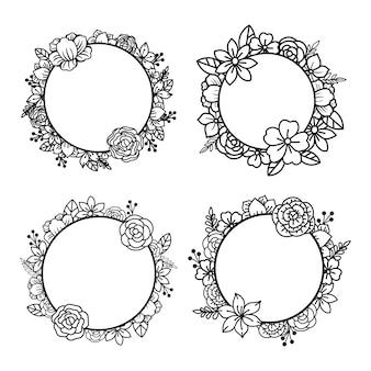Set di ghirlande floreali