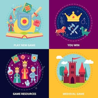 Set di giochi medievali