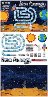 Set di gioco con sole e terra