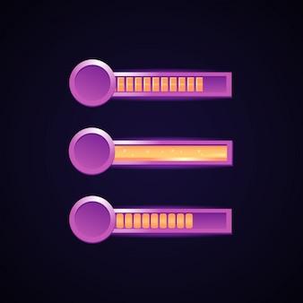 Set di gioco fantasy bar dell'interfaccia utente