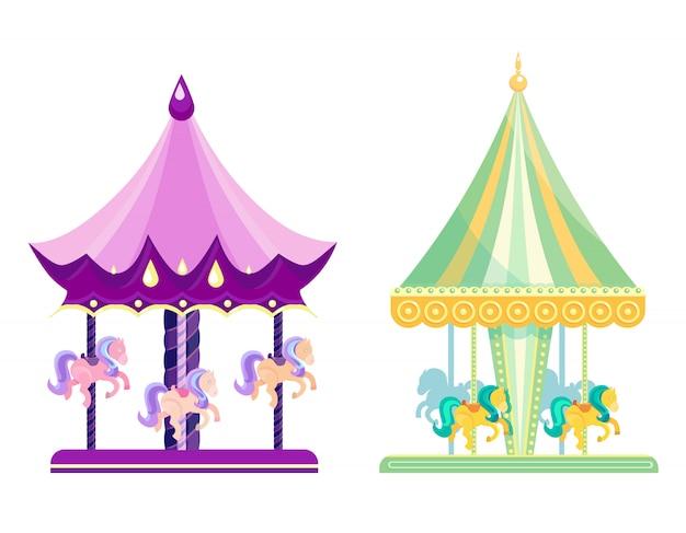 Set di giostre in vari design.