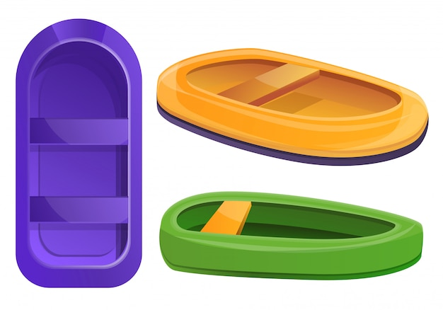 Set di gommoni, in stile cartone animato