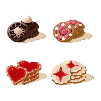 Set di gustosi biscotti