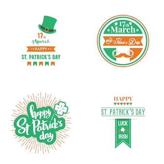 Set di happy st. patrick day.