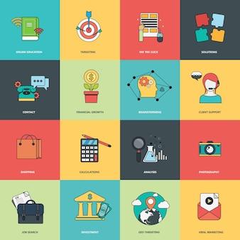 Set di icone aziendali