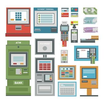Set di icone bancomat