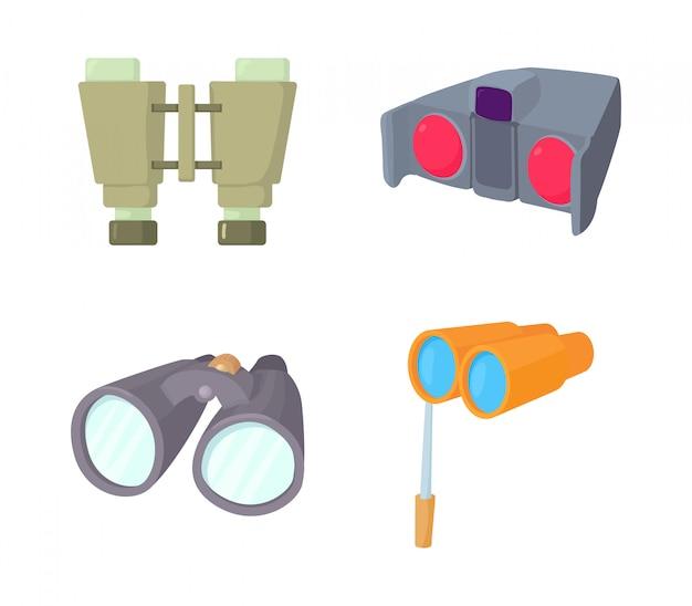 Set di icone binoculari
