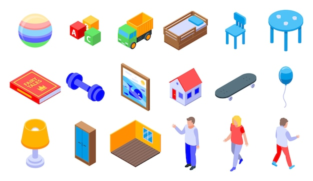 Set di icone camera per bambini
