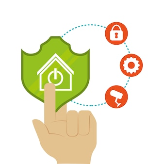 Set di icone casa casa intelligente