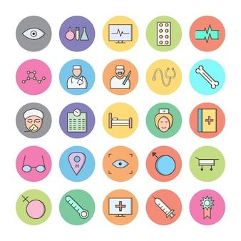Set di icone con tema medico