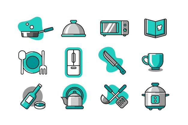Set di icone da cucina