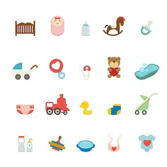 Set di icone del bambino
