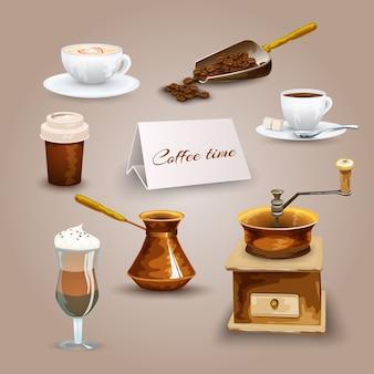 Set di icone del caffè