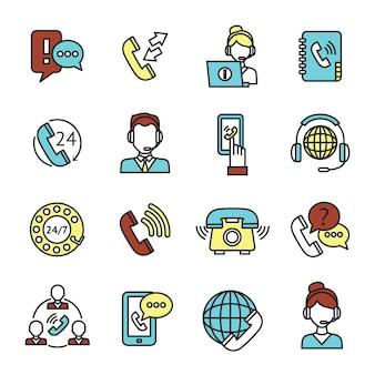 Set di icone del call center