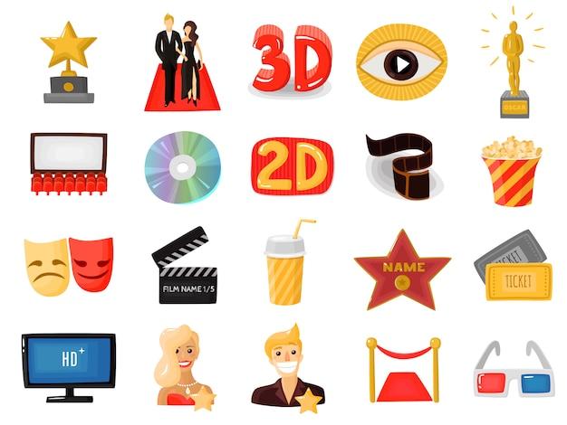 Set di icone del cinema