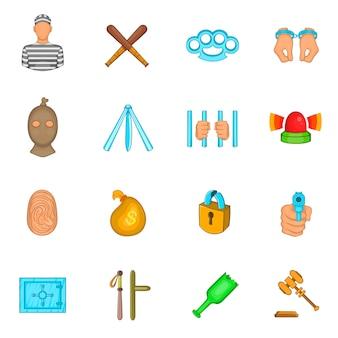 Set di icone del crimine