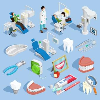 Set di icone del dentista