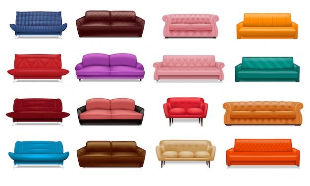 Set di icone del divano