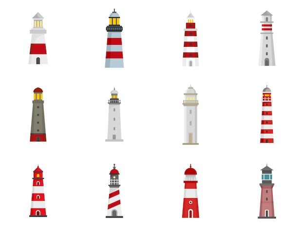 Set di icone del faro