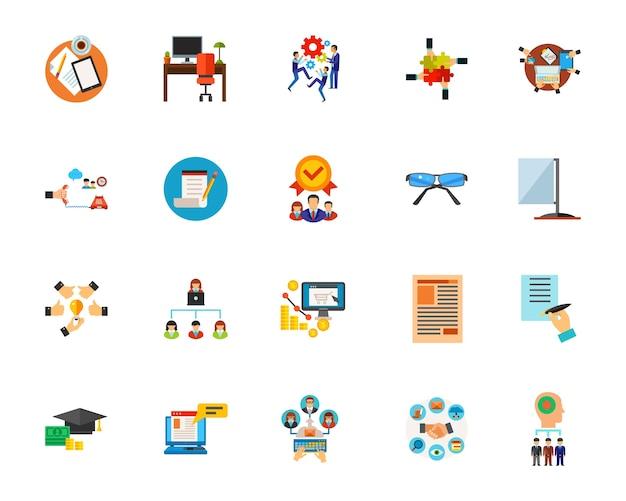 Set di icone del flusso di lavoro