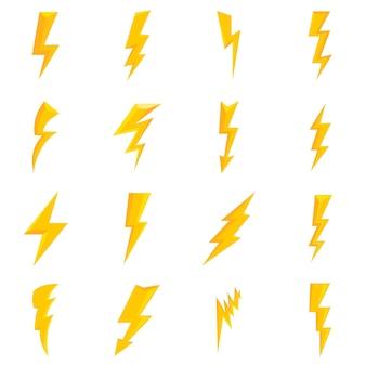 Set di icone del fulmine