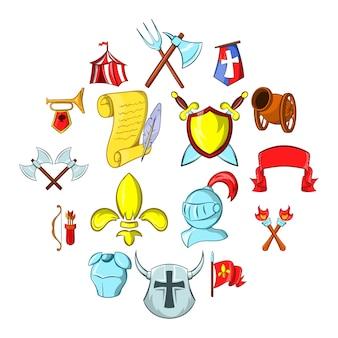 Set di icone del medioevo