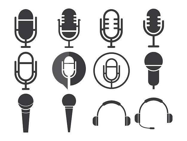 Set di icone del microfono