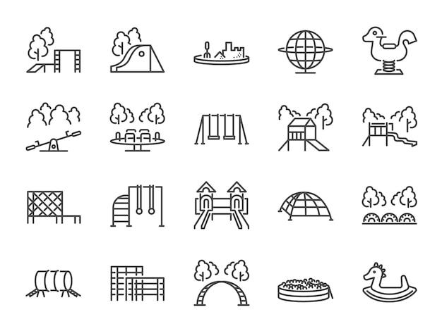 Set di icone del parco giochi