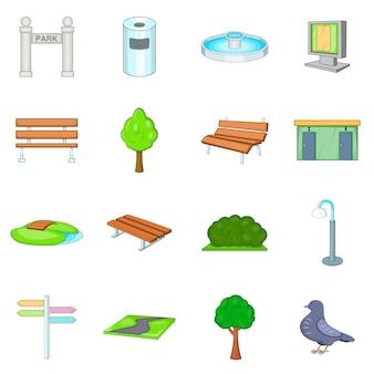 Set di icone del parco