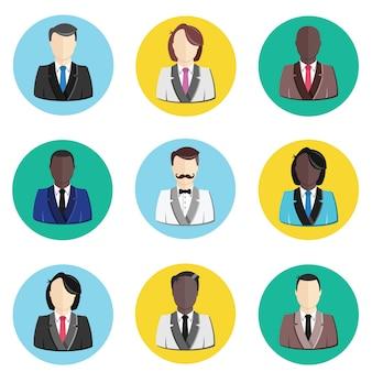 Set di icone del profilo avatar utente