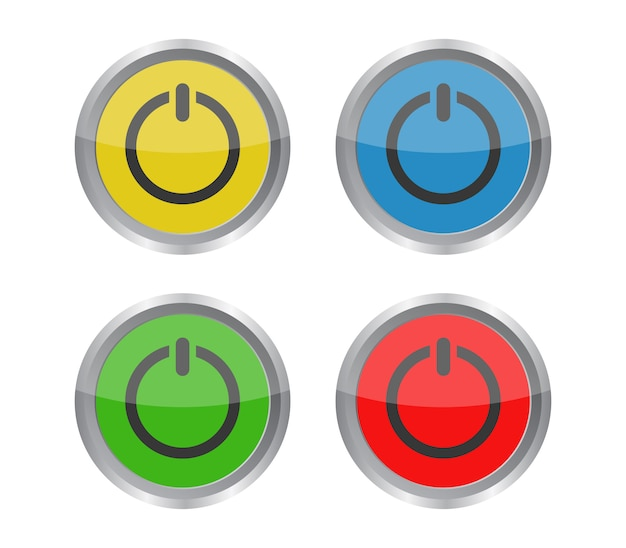 Set di icone del pulsante di accensione