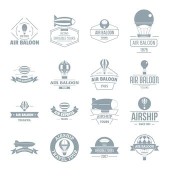 Set di icone dell'aerostato di aria