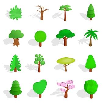 Set di icone dell'albero